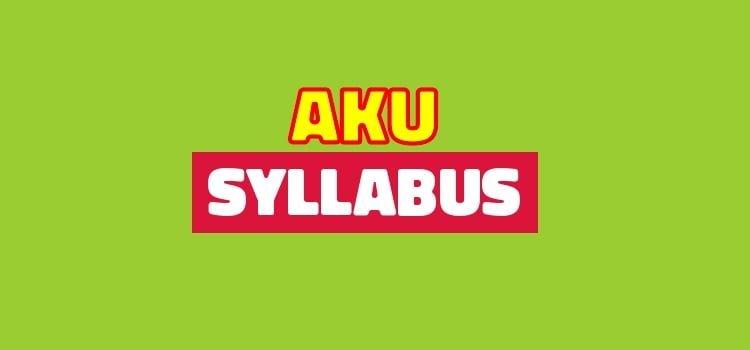 Download AKU Syllabus Free