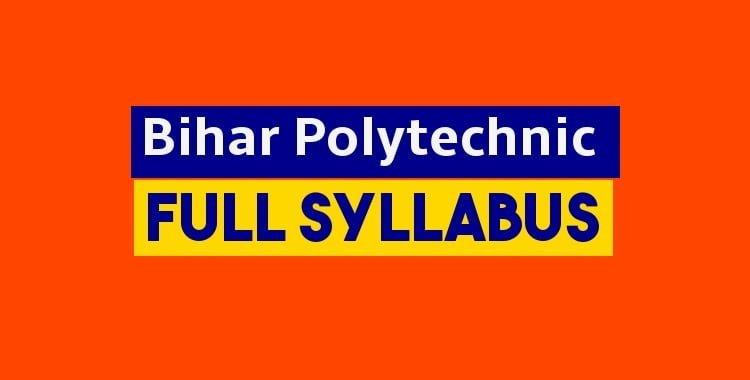 Bihar Polytechnic Syllabus pdf download